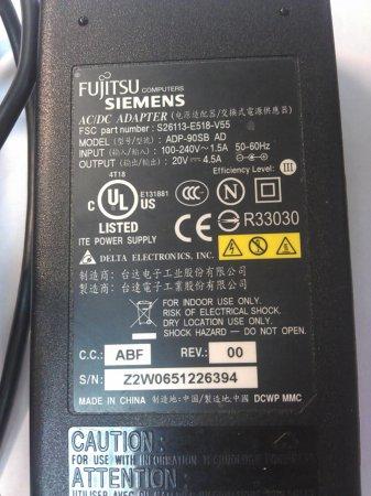 Зарядное устройство для ноутбука FUJITSU 0V Ток: 4.5A